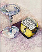 study of martini glass and oriental cup